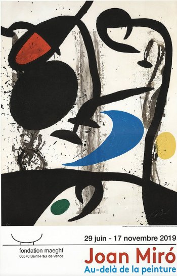 Miro, Au Dela De La Peinture, Poster Print