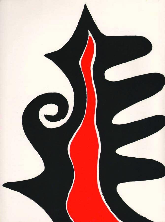 Alexander Calder, Original Lithograph, DM46201, Derriere le Miroir 1973
