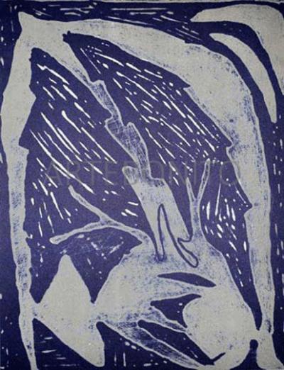 Dominique Labauvie Original Lithograph N8-4 Noise 1988