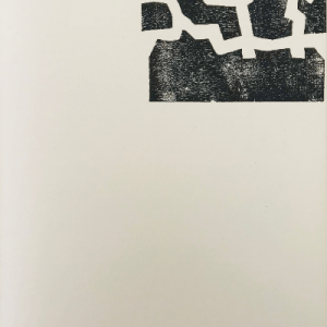 "Eduardo Chillida Woodcut ""DM04174"" DLM printed 1968"
