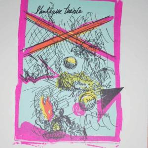 Francois Lamore Original Lithograph N 8-2 Noise 1988