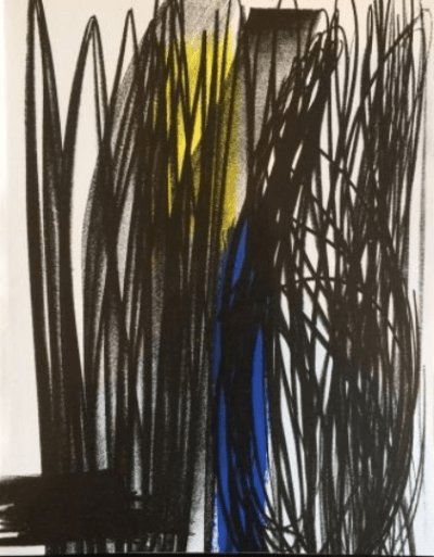 Hans Hartung original Lithograph 1973, XX Siecle