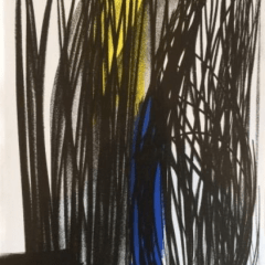 Hans Hartung original Lithograph 1973, XX Siecle
