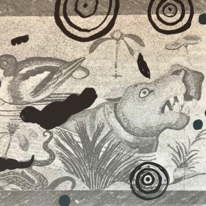 Helene Delprat original Lithograph N14-4h Noise 1988