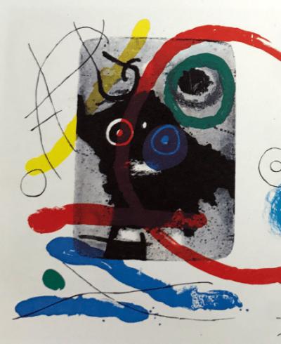 Joan Miro, Original Lithograph, DM11151, Derriere le Miroir 1970