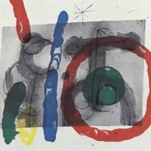 Joan Miro, Original Lithograph DM15151h, Derriere le Miroir 1970