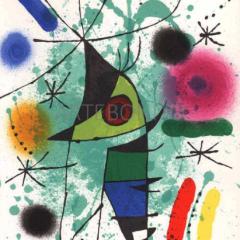 Joan Miro, Original Lithograph, V1-11