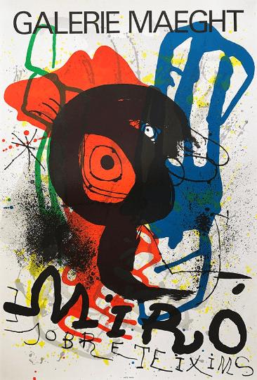 Joan Miro, Poster Original Lithograph, Sobretexim 1978