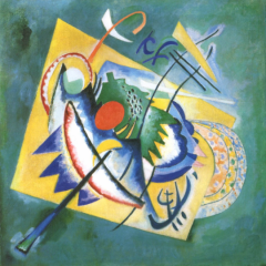 """Kandinsky """"Red Oval"""" L.E Numbered Giclee"""