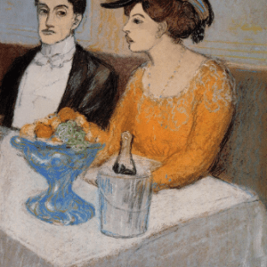 Picasso, Man and Woman at Table, Numbered Giclee