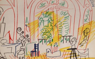 Picasso's Sketchbook Lithograph 2 Dated 19/11/1955