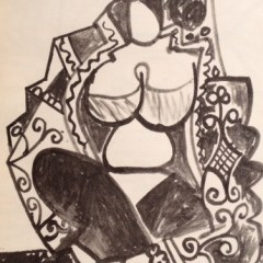 Picasso's Sketchbook Lithograph 4 Dated 21/11/1955