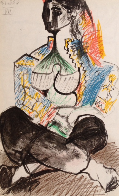 Pablo Picasso, Lithograph No 7 date 21/11/1955, , Limited Edition Sketchbook 1960