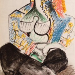 Picasso's Sketchbook Lithograph 7 Dated 21/11/1955