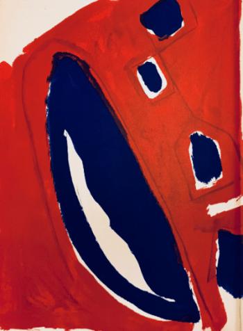 Pierre Tal-Coat, Original Lithograph DM07131, Derriere le Miroir 1962