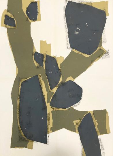 "Raoul Ubac Original lithograph ""DM0374"" Size 30x22"""