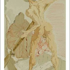Salvador Dali Woodcut, Hell 23 Divine Comedy