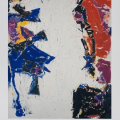 Sam Francis poster for Exhibition National Gallery of Art Washington 1988, Mid-century Modern, art print poster,