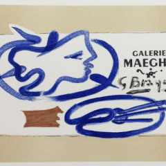 """Georges Braque 3, Lithograph """"theogonie"""" Art in posters, Mourlot Mid-century Modern art French painter"""