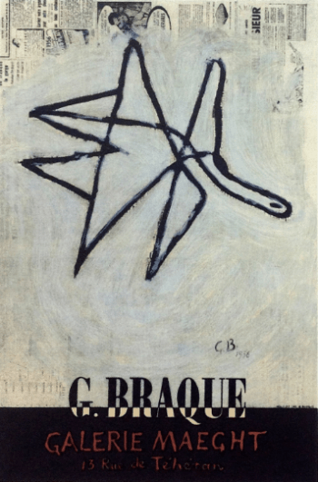 Braque Lithograph 8, Braque Maeght Gallery, Art in posters