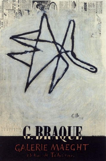 Georges Braque, Lithograph 8, Braque Maeght Gallery, Art in posters