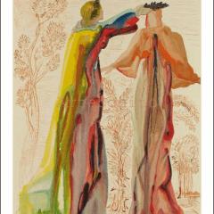 Salvador Dali, Purgatory 27, Woodcut , Divine Comedy