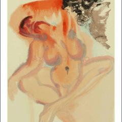 Salvador Dalim, Purgatory 3, Woodcut, Divine Comedy