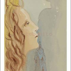 Salvador Dali, Paradise11, Woodcut, Divine Comedy
