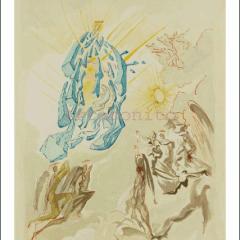 Salvador Dali, Paradise 26, Woodcut, Divine Comedy