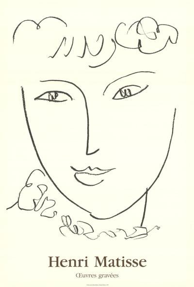 Matisse poster, oeuvres graves