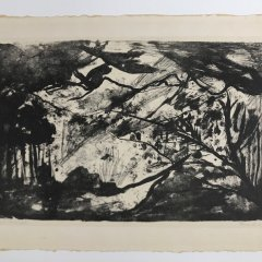Mary Shouh  American, Original Lithograph, pencil signed 1971,  Modern, Contemporary