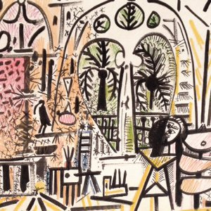 Picasso Sketchbook Lithograph No 15, dated 1/11/1955