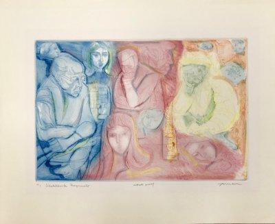 Irvin Amen, Sketchbook fragments, Etching, Pencil Signed & numbered