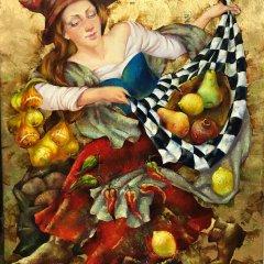 "Olga Naletova Signed Original Oil on canvas ""Autumn came"""