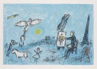 Marc Chagall, Original Lithograph, Derriere le miroir