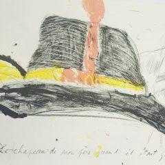 Francois Martin  Lithograph N5-2d, Noise 1988,  Mid-century modern,