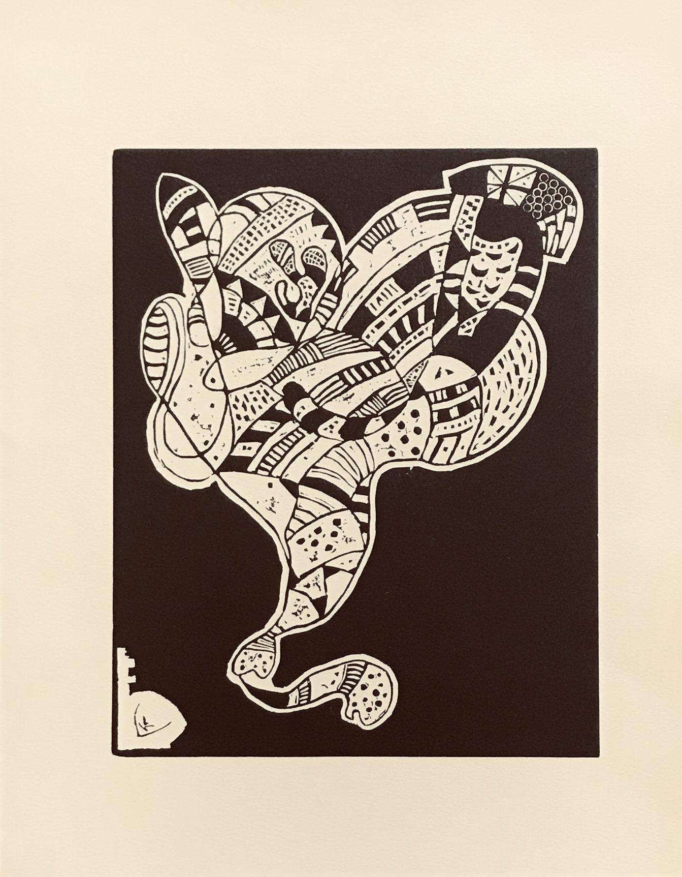 Wassily Kandinsky, Woodcut for Klange 2, XX siecle 1975