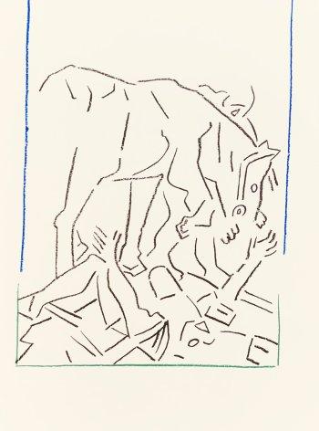 Buraglio, Lithographs N10-2 Caravage 1988