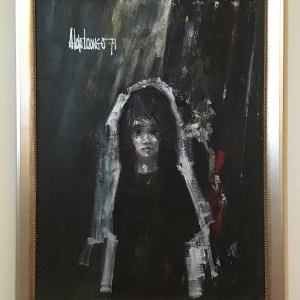 Aldo Luongo, Oil on Canvas Signed, Young Girl 1971