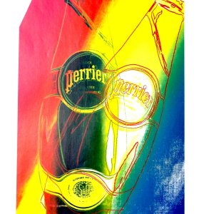 Andy Warhol  print Perrier 7,  1999  Pop Art , Contemporary