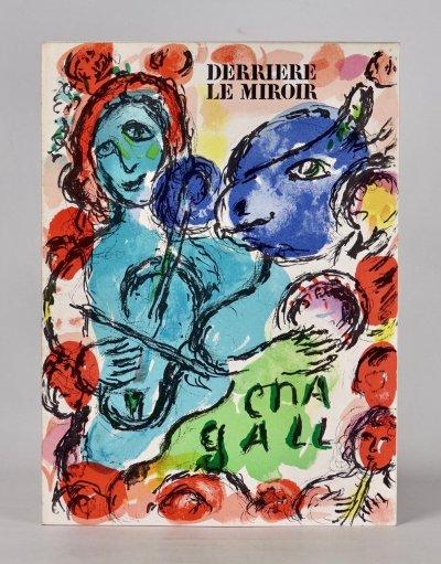 Marc Chagall Original Lithograph Pantomime, Derriere le Miroir, 1972