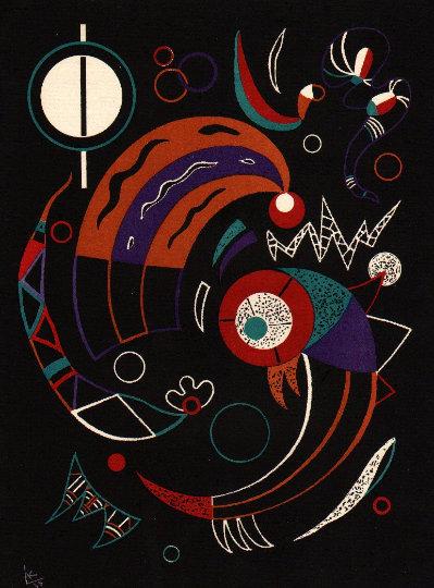 Wassily Kandinsky, Lithograph Comet, 1938 Verve Revue Artistique