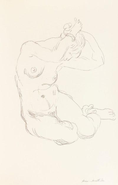 Henri Matisse Lithograph Nu 1918 by Succession 1994
