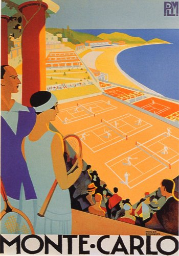 Poster Monte Carlo, Giclee printed on watercolor paper