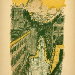 Bonnard Lithograph 115, Rue Vue d'en haut 1952
