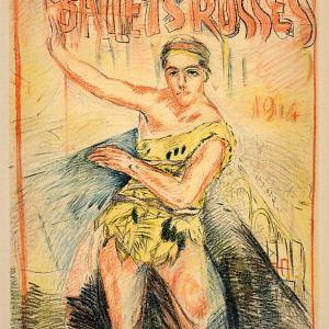 Bonnard Lithograph 143, Affiche pour les Ballets Russe