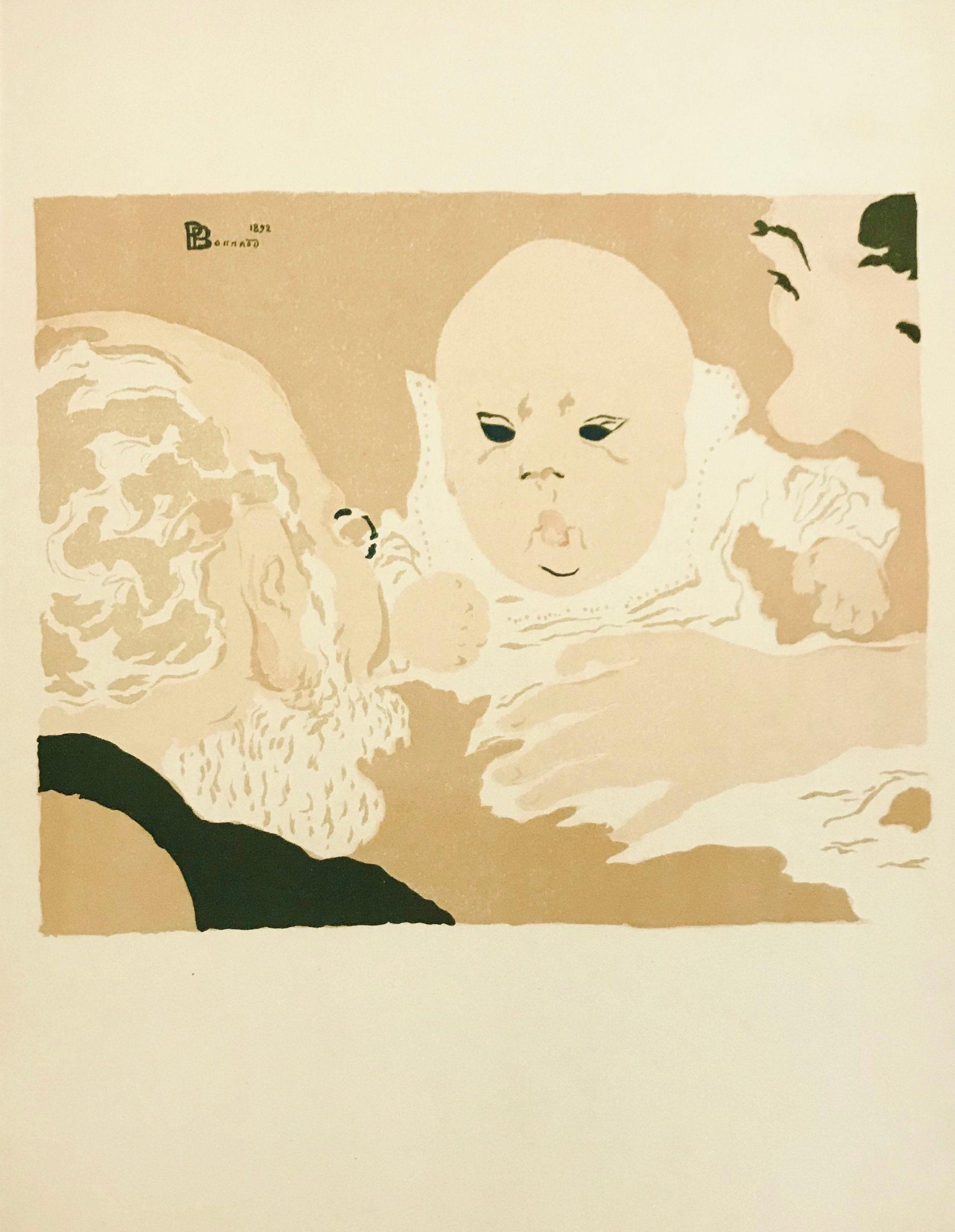 Bonnard Lithograph 2, Scene de famille 1952