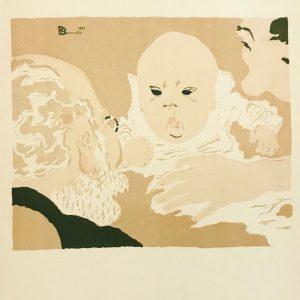 Bonnard Lithograph 19, Scene de famille 1952