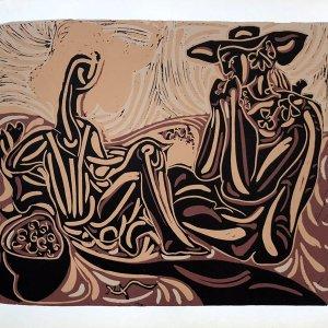 Pablo Picasso 34, Linogravures Les vendangeurs 1962