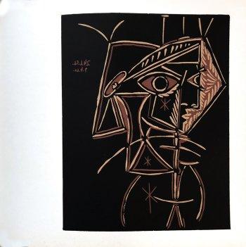 Pablo Picasso 44, Linogravures Tete de femme 1962